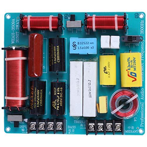 ACAMPTAR 1 Stück 350 Watt 3 Möglichkeiten Frequenzweiche Audio Board Hoch Töner + Mediant + Bass Frequenz Teiler Für 4-8 Ohm DIY Ktv Bühnen Lautsprecher Filter