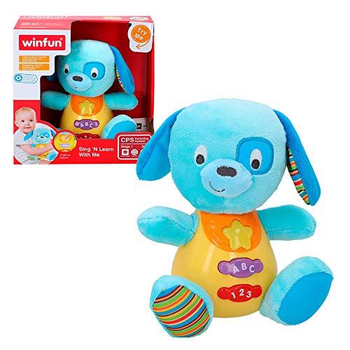 winfun - Peluche Perro para bebés que habla y luces de colores,...