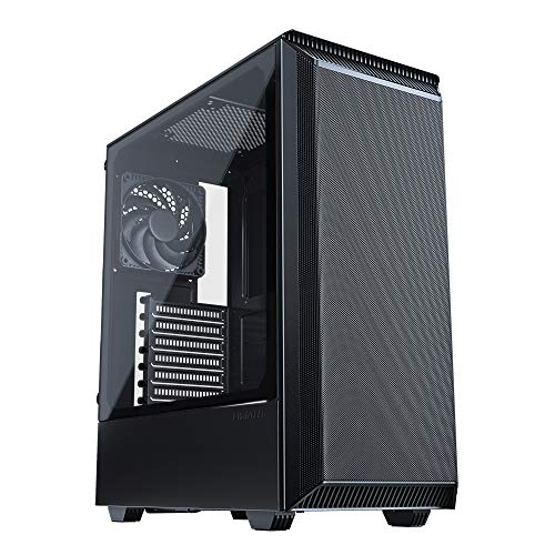 Phanteks Eclipse P300A (PH-EC300ATG_BK01) high airflow full-metal mesh design, compact ATX Mid-tower, 120mm black case fan, Black