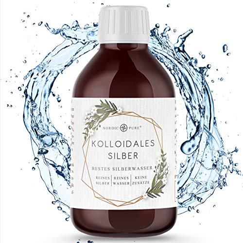 Kolloidales Silber - 100% natürliches Silberwasser mit 50 ppm oder 100 ppm | Sehr hohe Konzentration, kleine Partikel und höhere Wirksamkeit | Kolloidales Silberwasser Made in Germany