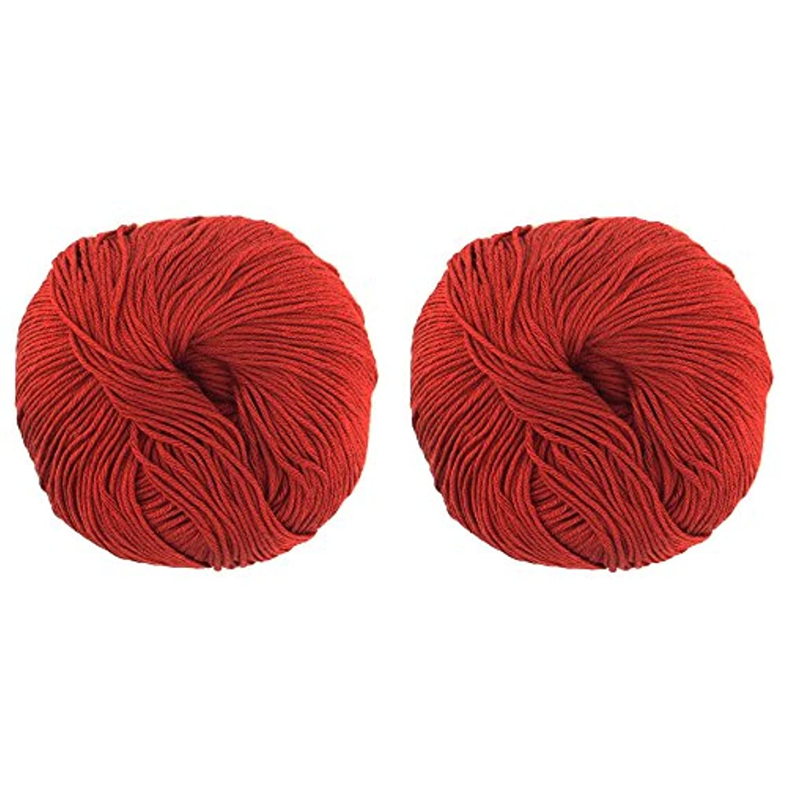 JubileeYarn Bamboo Cotton Blend Sport 4 Ply Yarn - 100g/skein - Red Hot Red - 2 Skeins