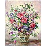 5D DIY diamante pintura florero ramo conjunto de bordado mosaico de diamantes imagen artística decoración del hogar pintura de diamantes A5 45x60cm