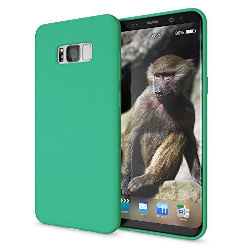 NALIA Cover Neon compatibile con Samsung Galaxy S8 Plus, Custodia Protezione Ultra-Slim Neon Case Protettiva Morbido Cellulare in Silicone Gel, Gomma Telefono Bumper Sottile, Colore:Verde