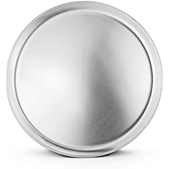 New Star Foodservice 50820 Pizza Pan/Tray, Coupe Style, Aluminum, 14 inch