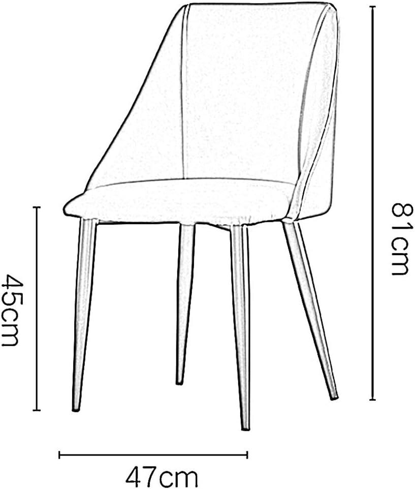 LJFYXZ Chaises Salle Manger Chaises de Cuisine Faux Cuir Chaises Longues Avec Des Jambes en Métal Robustes Mobilier de Bureau Moderne 47x47x81cm (Color : Orange) White