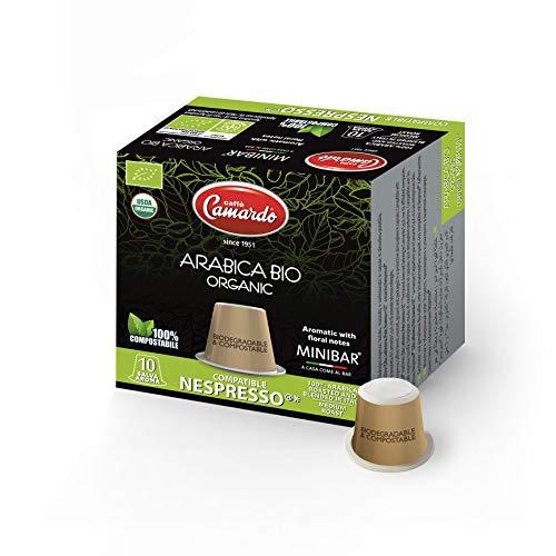 CAFFÈ CAMARDO 160 Cápsulas compostables compatibles con cafetera Nespresso® * - Mezcla ARABICA BIO - Café certificado orgánico USDA - Made in Italy - Práctica caja de 70 cápsulas