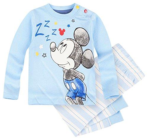 Pantalon et T-shirt manches longues bébé garçon Mickey Bleu/blanc 3 à 24mois (12 mois)