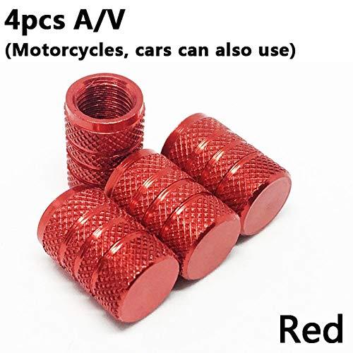 Válvula 4pcs bicicletas neumático de la rueda cubierto tapón de la válvula SV carro del coche de la motocicleta del tubo universal de los neumáticos de bicicletas AV a prueba de polvo de 10 colores Vá