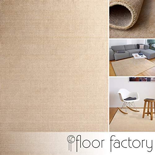 floor factory Gabbeh Teppich Karma beige 200x200 cm - handgefertigt aus 100% Schurwolle