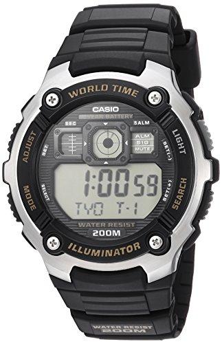 Casio Ae-2000w-9av Reloj Digital para Hombre Colección Youth Caja De Resina Esfera Color Gris