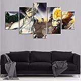 bnkrtopsu 5 Cuadro en Lienzo 5 Fotos Juntas en una Sala de Estar Dormitorio Creativo murales Decorativos y Carteles(Sin Marco) Tejer el Renacimiento del Asesino del Anime