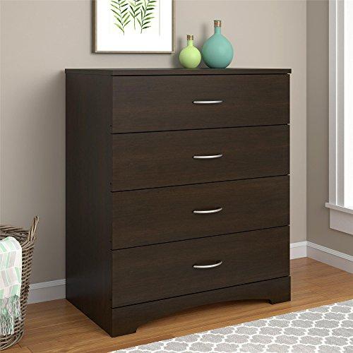 Ameriwood Home Crescent Point 4 Drawer Dresser, Espresso