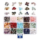 AKlamater Perlas de piedras preciosas naturales, irregulares de 4 a 8 mm, perlas de energía para manualidades, piedras preciosas naturales para enhebrar, pulseras, collares, joyas y manualidades