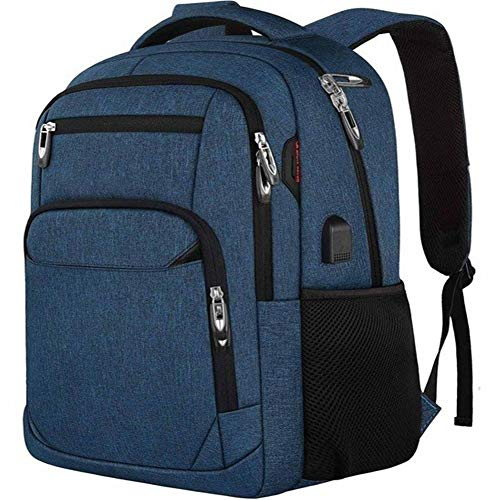 MsMsa Laptop Backpack 15.6 Unisex Fits Inch Business Travel Anti Theft Slim Durable Backpack with USB Charging Port Water School Bag (Color : Blue)