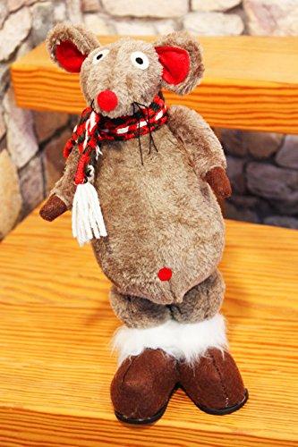 KAMACA Winter - Maus mit Schal - ausgefallene Dekoidee oder zum Verschenken in Winterzeit, Advent, Weihnachten