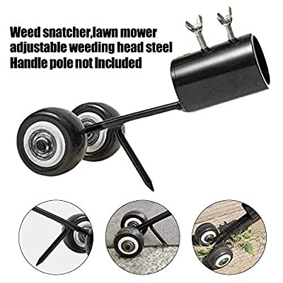 Darhoo Weed Snatcher Tool Rolling Easily Pulling Weeds from Cracks,Stainless Steel Manual Weed Puller Weeder Tool for Garden Lawn and Patio?Not Including Handle Pole)
