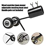 Darhoo Weed Snatcher Tool Rolling Easily Pulling Weeds from Cracks,Stainless Steel Manual Weed Puller Weeder Tool for Garden Lawn and Patio(Not Including Handle Pole)