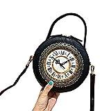 Echt Working Clock Bag, Vintage Handtasche Steampunk Style Umhängetasche einzigartige Geldbörse...