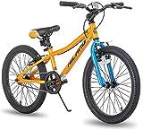 Hiland Climber - Bicicletta per bambini da 20 pollici, misura M, per bambini da 4 a 7 anni, forcella ammortizzata, freno a V, non tossica, colori