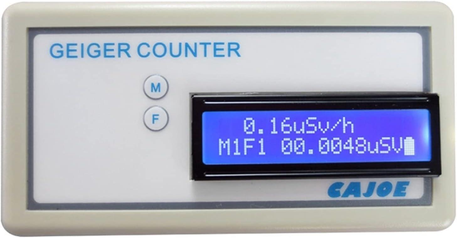 XINXI-YW Protección EMF GMV2 Manija portátil Geiger Contador Dosímetro de radiación EMF Detector de radiación Nuclear ensamblada con medidor para casa EMF Inspecciones, Oficina, Outdoor y Ghos