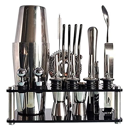 Premium Cocktail Shaker Set Roestvrijstalen Drinken Mixer Set Bar Gereedschap Met Shaker Meten Cup Bar Spoon Geschikt…