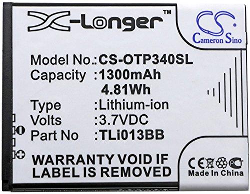 Versand per DHL Cameron Sino 1300mAh Akku TLi013B2, TLi013BB für Alcatel One Touch Pixi 3 4.0, One Touch Pixi 3 4.0 3G, OT-4013, OT-4013D, OT-4013J, OT-4013K, OT-4013M,/für Orange Klif
