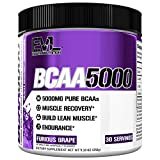 Evlution Nutrition BCAA5000 Powder 5 Grams of Branched Chain Amino Acids (BCAAs) Essential for Performance, Recovery, Endurance, Muscle Building, Keto Friendly, No Sugar (30 Servings, Furious Grape)