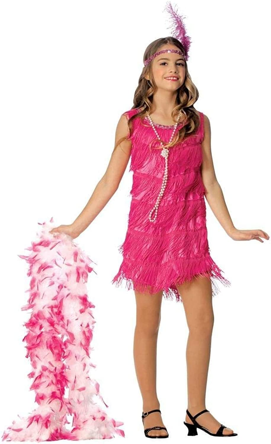 Franco American Novelty 49726S Costume Flapper Pink  Small
