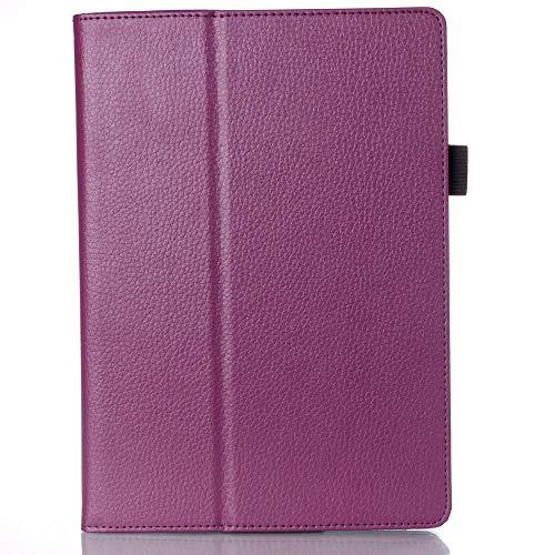 Nueva Funda de Cuero de la PU para Lenovo Ideatab 10.1 A10-70 A7600 A7600-h / A7600-f Tablet Pc Tablette Stands Funda 2015-Violeta