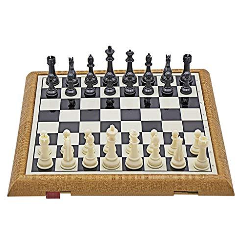 Teri Scacchiera Magnetic Plastic Schach Set Klappschachbrett Panel Professionelle Spiel Unterhaltung Schach Tragbares faltbares Schachbrett Scacchi (Größe : 21.9cm)