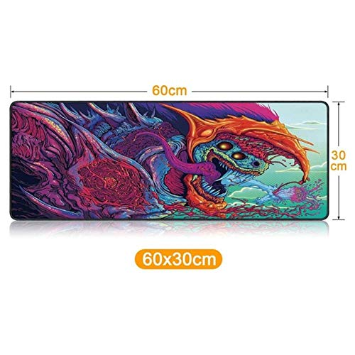 Xxl Muismat Grote gamingmuismat Spel Effen kleur Vergrendeling Rand Toetsenbord Muismat Gaming Bureau Mousepad, baolong60x30