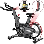 pooboo Exercise Bike Indoor Cycling Bike Magnetic Stationary Bike for Home Use with Monitor and Adjustable Resistance