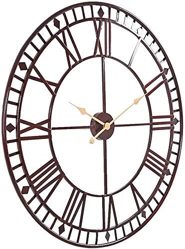 Digitaluhr großer runder Metallrahmen Innen- / Außen-Gartendekoration Uhr 31.5inch,A-80 cm 31.5 inches