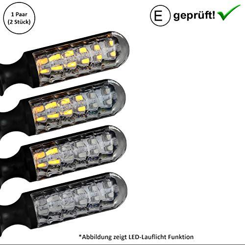 LED Blinker Qingqi, CF-Moto, Herkules, IVA, JMStar Motorroller (E-Geprüft / 2Stück) (B6)