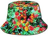 Malaga Flowers NRENRE Unisex Outdoor Travel Sun Bucket Hat Gorra de Pescador de Verano