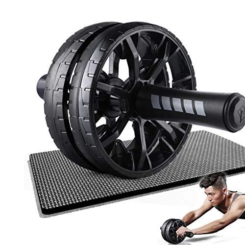 GIYL Ab Wheel Roller AB Roller Perfekte Fitness Roller Workout-Maschine Kern Abs Trainer Cruncher mit Mat für Kern Abs Roll-Out Übung