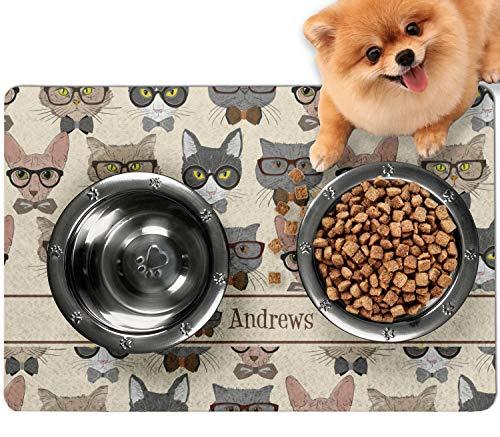 RNK Shops Hipster Cats Dog Food Mat