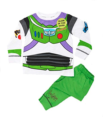 Pijama y disfraz de Buzz Lightyear, para niños de 2 a 3 años blanco Buzz Lightyear 3-4 años