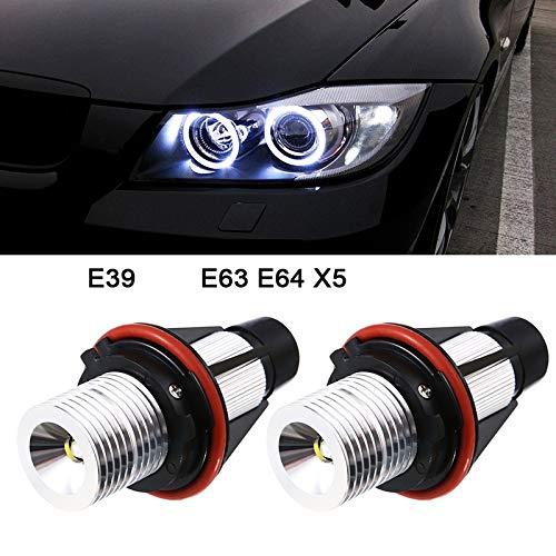 2PCS 1000LM Angel Eyes luce auto lampadine LED Halo anello Marker 5 W 6000 K bianco per BMW E39 X5 E53 E60 E63 E64