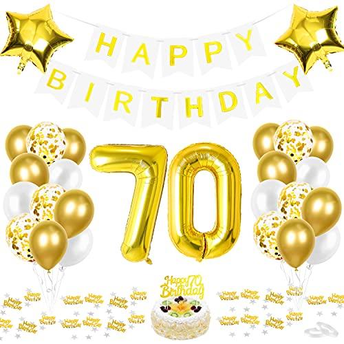 70 Anniversaire Ballon, 70 Ans Décoration Anniversaire, Dorés Ballon Chiffre 70, Ballons Anniversaire 70 an Dorés, Fête Ballons 70 Ans Ballons, Ballon Chiffre 70, Homme Femme
