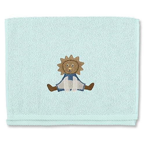 STERNTALER Serviette en Eponge pour Enfant Aqua Motif Leo Le Lion 30 x 50 cm