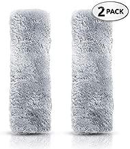Premium Quality Comfy Faux Sheepskin Car Seat Belt Pads - Plush & Comfortable Fabric - Durable & Adjustable Pads - As Buckle Belt Covers, Shoulder Pads for Camera, Messenger Bag, Guitar & More