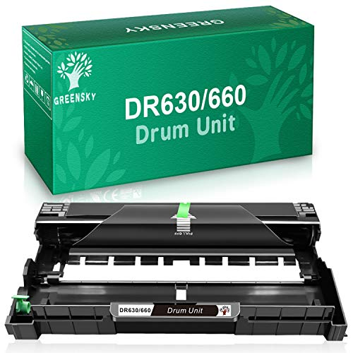GREENSKY Compatible Drum Unit Replacement for Brother DR630 DR-630 (1-Pack)