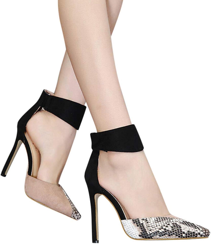 Fashion Women's Business Ultra-Fine Stiletto Lady Ankle Buckle White Legs Sensibility Office Skirt Uniform Heels shoes