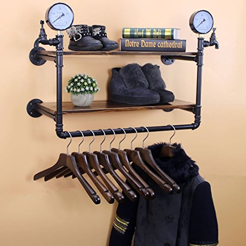Wandregal Regal Boutique de vêtements Accessoires de décoration Écran de fenêtre Pendentifs Rétroviseurs présentoir (taille : 65cm)