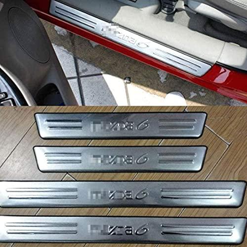 ZZKD 4pc Coche para el Interruptor de la Puerta al Aire Libre Sticks para Mazda 6 2004-2013, Accesorios de Acero Inoxidable Accesorios para cochecitos del Protector de rasguños Pedal de la Cubierta