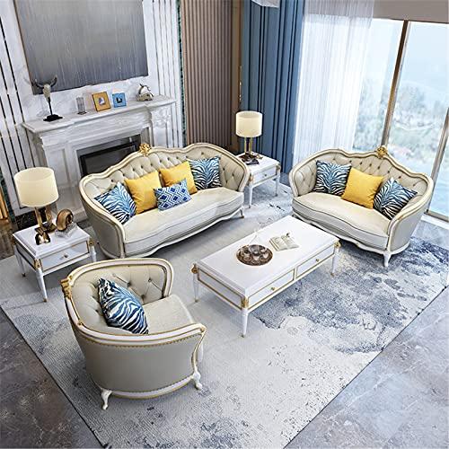 ANYURAN Sofá Moderno Sofá Sofá, Sofá de Esquina de Madera Maciza de Lujo Ligero Americano 1/2/3 sofá de salón Moderno sofá Cama para Sala de Estar y Oficina,B