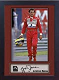 SGH SERVICES Gerahmtes Poster Ayrton Senna mit Autogramm,