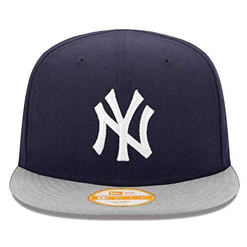New Era 9fifty Mon premier 1st nourrisson NY Yankees la BRAVES bébé enfants casquette - NY Bleu marine / gris, Nourrisson (48.2cm), Bébé (48,2 cm)