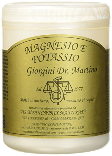 Dr. Giorgini Integratore Alimentare, Magnesio e Potassio Polvere - 360 g, puder, vegan;free from preservatives;free from synthetic dyes